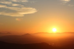Wschód słońca nad górami Fotografia Stock
