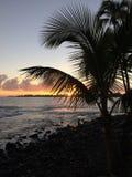 Wschód słońca nad Hilo zatoka w Hilo, Hawaje Obraz Royalty Free