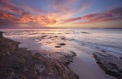 Wschód słońca nad Jervis zatoką fotografia stock