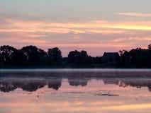 Wschód słońca nad jeziorem fotografia royalty free