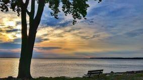 Wschód słońca nad Jeziornym Erie Obrazy Royalty Free