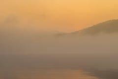 wschód słońca nad jezioro Zdjęcie Stock