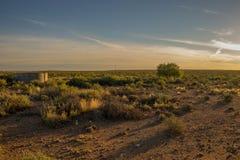 Wschód słońca nad Karoo w Południowa Afryka Fotografia Stock