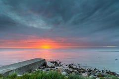 Wschód słońca nad Kattegat, Dani zdjęcia stock