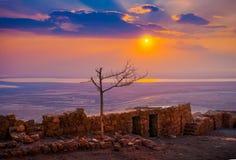 Wschód słońca nad Masada Zdjęcia Royalty Free