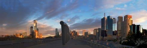 wschód słońca nad Melbourne zdjęcie stock