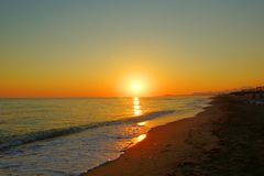 wschód słońca nad morza czarnego Zdjęcie Royalty Free