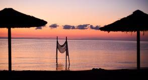 wschód słońca nad morza czarnego obrazy stock