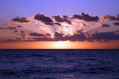 wschód słońca nad morza czarnego Fotografia Stock