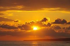 wschód słońca nad morza czarnego Fotografia Royalty Free