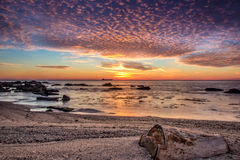 wschód słońca nad morza czarnego Zdjęcie Stock