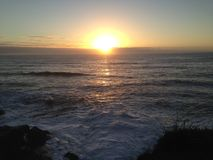 wschód słońca nad morza czarnego Zdjęcia Royalty Free
