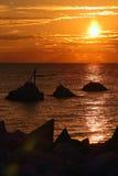 Wschód słońca nad morzem. Zdjęcia Royalty Free