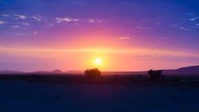 Wschód słońca nad Namib pustynią, roadtrip w cudownym Namib Naukluft parku narodowym, podróży miejsce przeznaczenia w Namibia, Af Fotografia Royalty Free