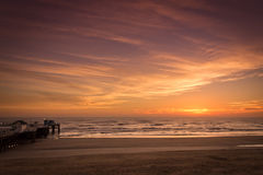 wschód słońca nad ocean Obraz Royalty Free