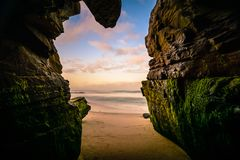 Wschód słońca Nad Pacyficznym oceanem Fotografia Stock