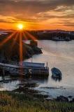 Wschód słońca nad połów scenami na zmian wyspach Obrazy Royalty Free