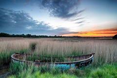 Wschód słońca nad Poole schronieniem Zdjęcia Royalty Free