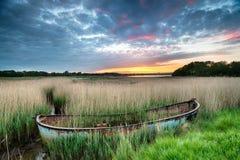 Wschód słońca nad Poole schronieniem w Dorset Zdjęcie Stock