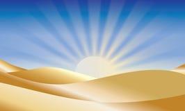 Wschód słońca nad pustynią fotografia royalty free