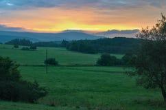 Wschód słońca nad Rudnymi górami obraz royalty free