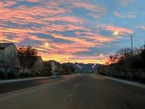 Wschód słońca nad Suburia Zdjęcia Royalty Free