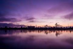 Wschód słońca nad Szczecińskim zdjęcia royalty free