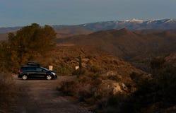 Wschód słońca nad Tabernas pustynią w Hiszpania obrazy royalty free