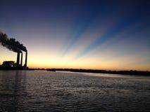 Wschód słońca nad Tampa zatoką fotografia stock