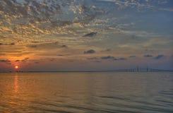 Wschód słońca nad Tampa zatoką Obrazy Stock