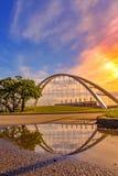 Wschód słońca Nad Walterdale mostem zdjęcie stock