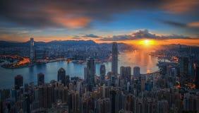 Wschód słońca nad Wiktoria schronieniem jak przeglądać na Wiktoria szczycie Zdjęcia Royalty Free