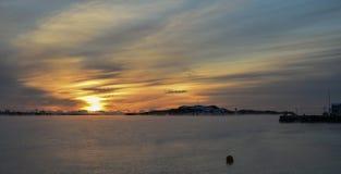 Wschód słońca nad wyspą Zdjęcie Royalty Free