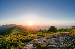Wschód słońca od Jane Łysego zdjęcie royalty free