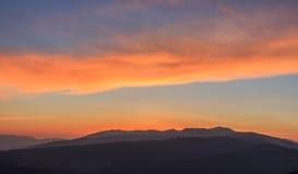 Wschód słońca od losu angeles Molina narty skłonów Zdjęcia Royalty Free