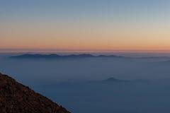 Wschód słońca od Mt fuji Fotografia Stock