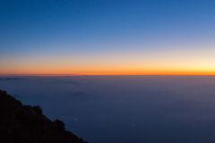 Wschód słońca od Mt fuji Zdjęcie Royalty Free