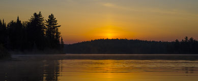 Wschód słońca od Qubec Zdjęcie Stock