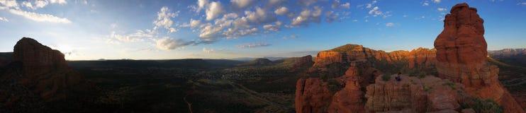 Wschód słońca Panoramiczna góra Zdjęcia Stock
