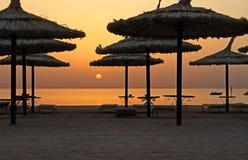 wschód słońca parasol Zdjęcia Stock