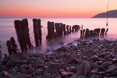 Wschód słońca plaża obraz royalty free