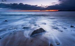 Wschód słońca plaża Fotografia Stock