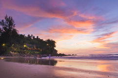 Wschód słońca plaża obraz stock