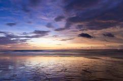 Wschód słońca plaża obrazy royalty free