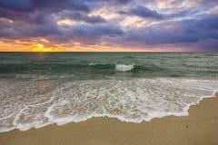 wschód słońca pochmurno Zdjęcie Stock