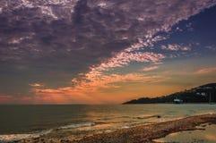 Wschód słońca Poros Zdjęcie Stock
