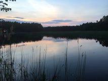 Wschód słońca przez płoch Zdjęcie Stock