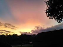 Wschód słońca przy Aalborg, Dani Zdjęcie Royalty Free