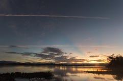 Wschód słońca przy Abra rzeką zdjęcia royalty free