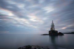 Wschód słońca przy Ahtopol latarnią morską Fotografia Stock